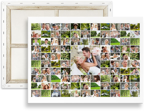 100 photo collage maker on canvas