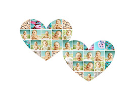 Birthday Heart Shaped Photo Collage