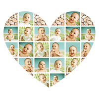Heart Shaped Photo Collage for Kids
