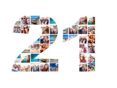 21st Birthday Collage slider