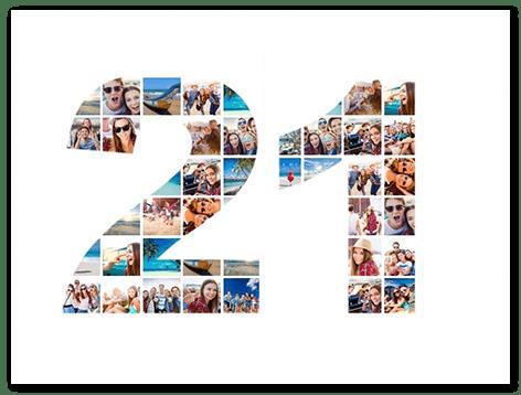 21st birthday photo collage top