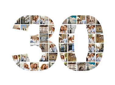 30 birthday photo collage slider
