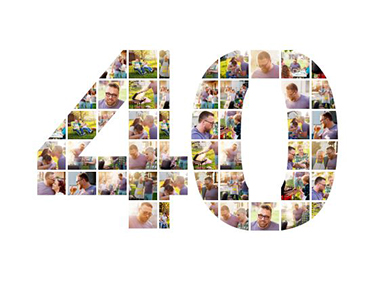 40 birthday photo collage slider