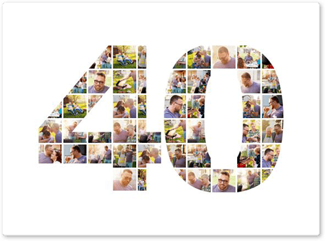 40 birthday photo collage top
