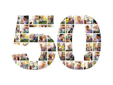 50 birthday photo collage slider