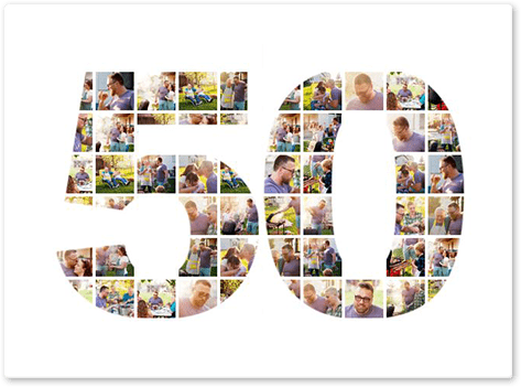 50 birthday photo collage top