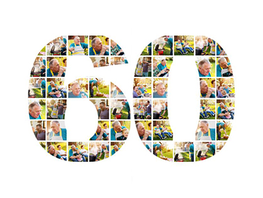 60th birthday photo collage slider