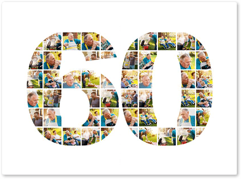 60th Birthday Photo Collage Top