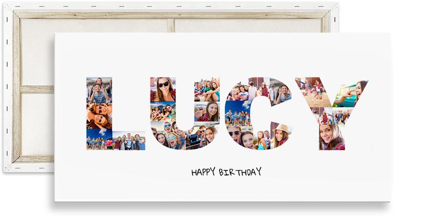 Birthday Photo Collage Name