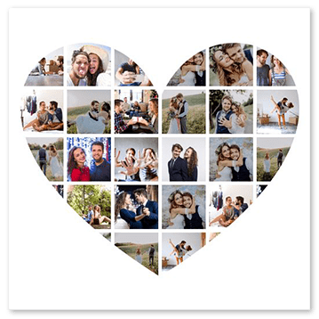 anniversary collage free templates for up to 100 photos