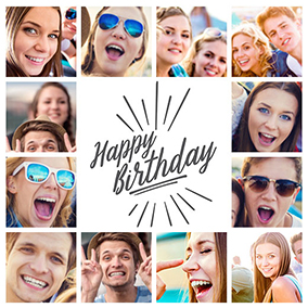 birthday collage slider