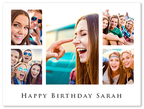 Birthday Photo Collage Free Templates For Up To 100 Photos