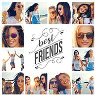 collage vorlage friends 2