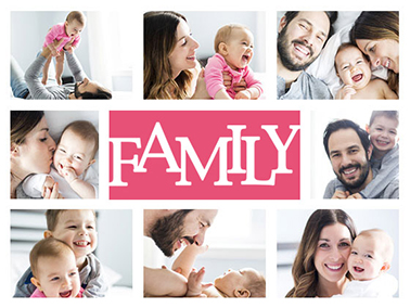 family collage slider