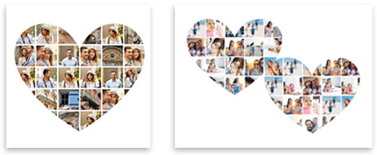 Heart Photo Collage Templates