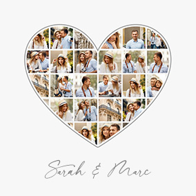 heart photo collage slider