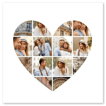 Heart Photo Collage With Free Heart Shaped Templates