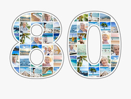 80 Photo Collage as Number