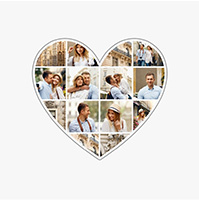 photo collage heart 1