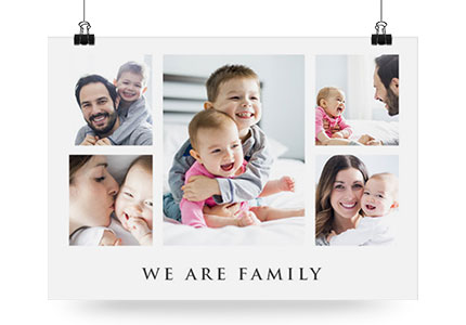 produkt collage poster family