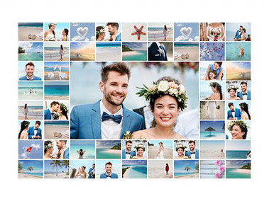 wedding photo collage slider